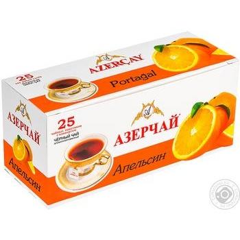 Чай черный Azercay с апельсином 25шт*1,8г - купить, цены на Novus - фото 1