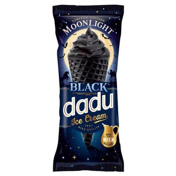 Мороженое Dadu Moonlight Black ванильно-шоколадное с наполнителем вишня рожок 150мл - купить, цены на Таврия В - фото 1