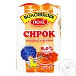 Cottage cheese Voloshkove pole sweet with dried apricots not heat-treated 8% 100g Ukraine