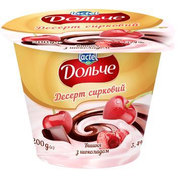 Десерт сирковий Дольче вишня з шоколадом 3,4% 200г
