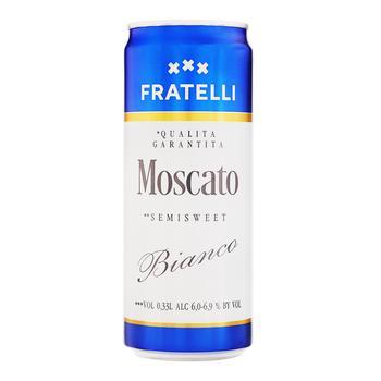 Вино игристое Fratelli moscato полусладкое белое 9.5-13% 0.33л - купить, цены на ЕКО Маркет - фото 1