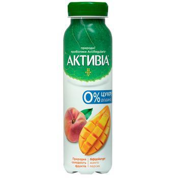 Бифидойогурт Активиа манго-персик без сахара 1,2% 270г