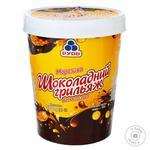 Мороженое Рудь Шоколадный грильяж с кусочками миндаля и глазурью 500г - купить, цены на Ашан - фото 2