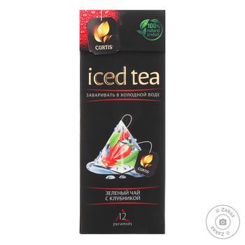 Чай Curtis Iced Tea зеленый с клубникой 15шт х 1,8г