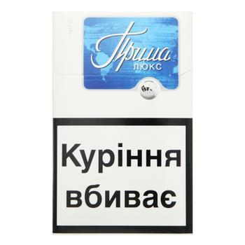 Сигареты Прима Люкс синяя - купить, цены на СитиМаркет - фото 1