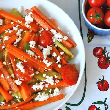 Тушеные овощи с фетой