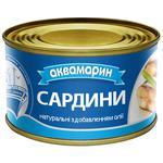 Akvamarin Natural With Oil Sardines 230g