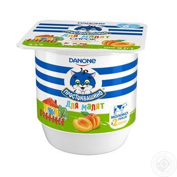 Творожок Простоквашино абрикос с бифидобактериями для детей с 6 месяцев 3,4% 100г
