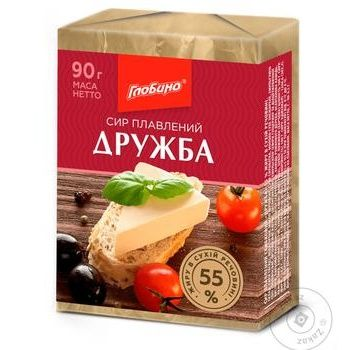 Сыр плавленый Дружба 55% Глобино 90г - купить, цены на Фуршет - фото 1