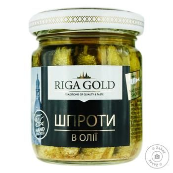 Шпроты Рижское Золото в масле 100г