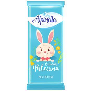 Шоколад молочный Alpinella Easter 90г
