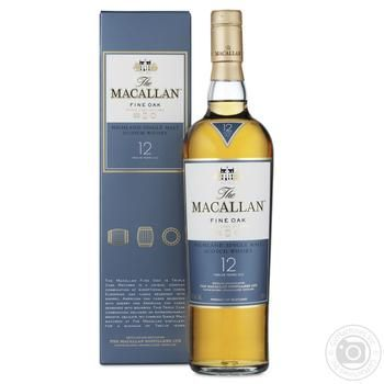 Macallan Fine Oak Malt 12 yrs whisky 40% 0,7l