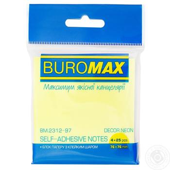 Блок бумаги для заметок BuroMax 76*76мм - купить, цены на Novus - фото 1