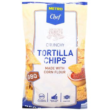 Чипсы Тортила Metro Chef BBQ кукурузные 750г