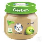 Пюре Гербер фруктове яблуко без крохмалю і цукру для дітей з 4 місяців скляна банка 80г Польща