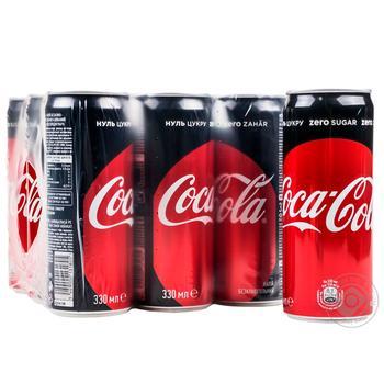 Напиток Coca-Cola Zero сильногазированный 0,33л - купить, цены на Метро - фото 2