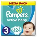 Подгузники Pampers Active Baby-Dry Midi 5-9 кг 124шт/уп