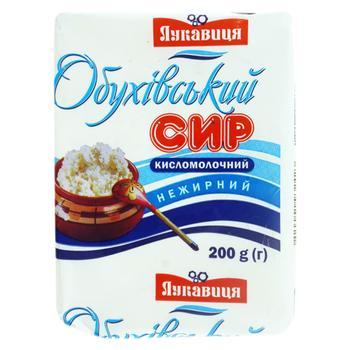 Сыр Лукавиця кисломолочный нежирный 200г - купить, цены на Фуршет - фото 1