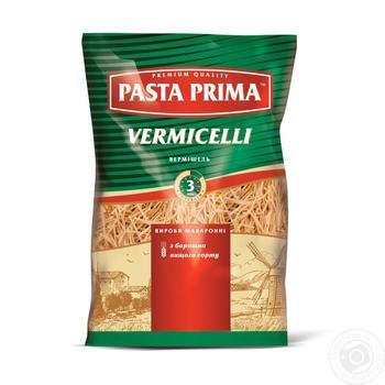 Макарони Pasta Prima Вермішель 800г - купити, ціни на МегаМаркет - фото 1