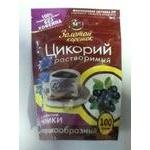 Напій Золотой Корішок Цикорій з чорницею розчинний порошкоподібний без кофеїну вакуумна упаковка 100г Росія