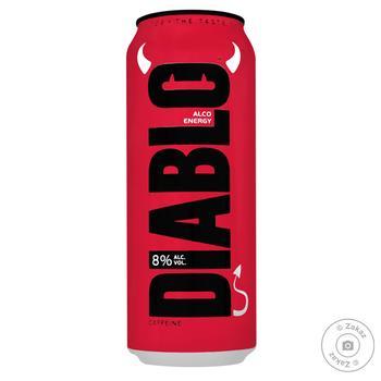 Пиво Diablo Alco Energy ж/б 8% 0,5л - купить, цены на Novus - фото 1