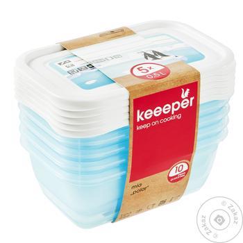 Набір ємкостей Keeeper  для заморожування 5шт*0,5л - купити, ціни на Ашан - фото 1