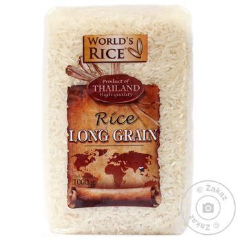 Рис World's Rice шлифованный длиннозернистый 1кг - купить, цены на Novus - фото 1
