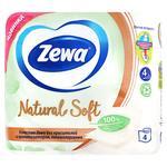 Туалетная бумага Zewa Natural Soft четырехслойная 4шт