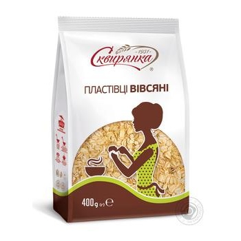 Skviryanka Oat Flakes 400g - buy, prices for Furshet - image 1