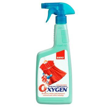 Засіб для виведення плям Sano Oxygen для прання 750мл - купити, ціни на ЕКО Маркет - фото 1