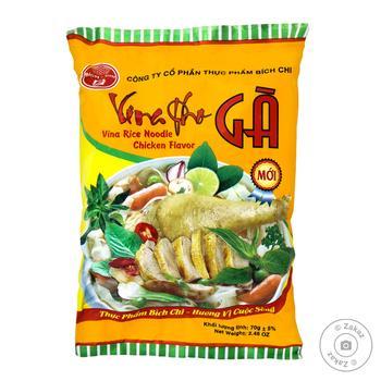 Локшина рисова Bich-Chi Vina Pho Ga зі смаком курки швидкого приготування 70г - купити, ціни на Novus - фото 1