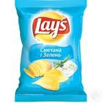 Чипсы Lay's картофельные со вкусом сметаны и зелени 71г Украина