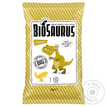 Snack Bio saurus corn with taste of cheese 50g - buy, prices for MegaMarket - image 1