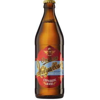 Пиво Опілля Жигулівське світле 4% 0,5л - купити, ціни на CітіМаркет - фото 1