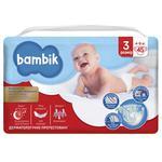 Підгузники Bambik Jumbo Midi 3 дитячі 4-9кг 45шт