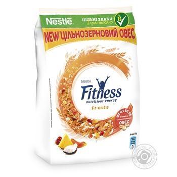 Завтрак готовый сухой Fitness&Fruits из цельной пшеницы с фруктами витаминами и миинералами 400г