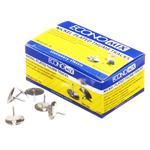 Кнопки EconoMix металлические никелированные 100шт