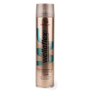 Лак для волос WELLAFLEX Объем и Восстановление суперсильной фиксации 250мл
