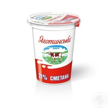 Yagotynska Sour Cream 21% 350g - buy, prices for Auchan - image 1