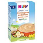 Каша детская HiPP  Кукурузная с фруктами с пребиотиками молочная без сахара с 5 месяцев 250г
