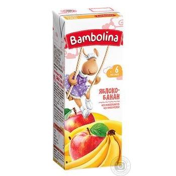 Сок Bambolina Яблоко-банан 200мл - купить, цены на Фуршет - фото 1