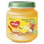 Пюре фруктове Milupa Персик яблуко і банан для дітей з 6 місяців 125г
