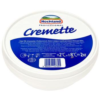 Сир сирковий Hochland Cremette Professional 65% 2кг