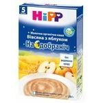 Каша детская ХиПП Спокойной ночи овсяная с яблоком био-молочная с 6 месяцев 250г