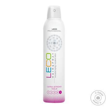 Лак для волос Leco Beauty ультрасильная фиксация 300мл - купить, цены на Восторг - фото 1