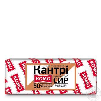 Сыр Комо Кантри с топленым молоком 50% - купить, цены на Фуршет - фото 1