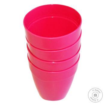 Набір стаканів Меломан для пікніка 4шт 150мл - купити, ціни на CітіМаркет - фото 1