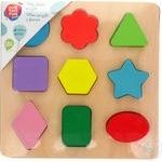 One Two Fun Puzzles wooden 9 elements in assortment