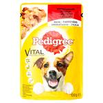 Pedigree Dog food with beef in jelly 100g