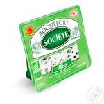 Сыр с овечьего молока Societe Bio Рокфор с голубой плесенью 56% 100г
